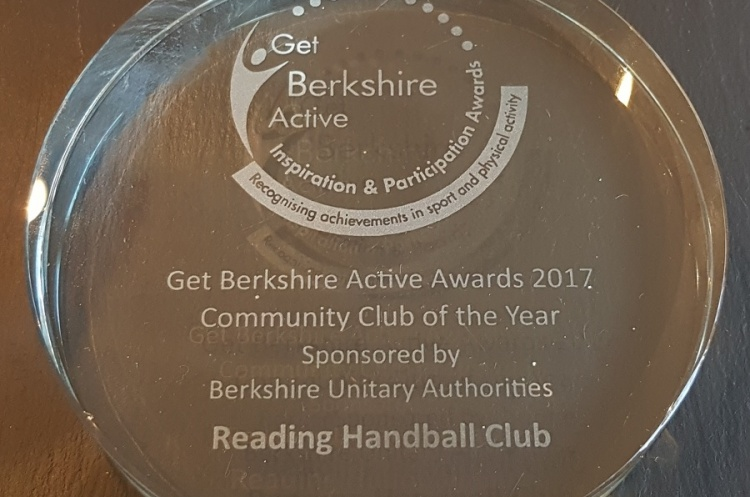 Reading win Community Club of the Year Award