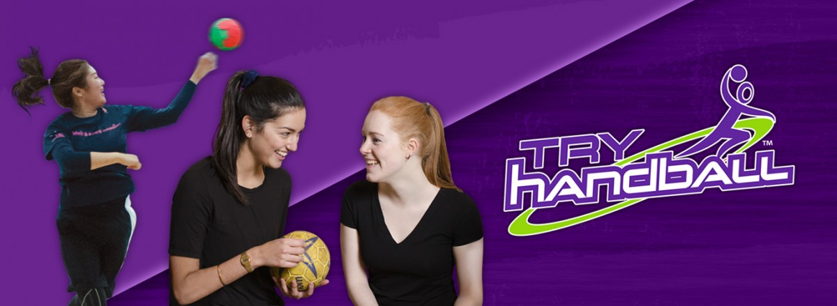 Try Handball Women-only home-page banner